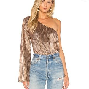 NEW House of Harlow x Revolve Ross Top Rose Gold